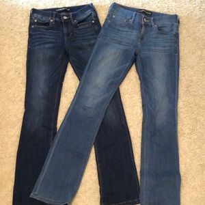 Set of 2 - Express barely boot midrise jeans